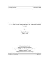 25 — 6: The Racial Stratification of the National Football League