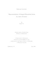 Representations of Integral Hermitian Forms by Sums of Norms