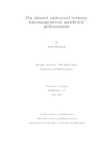 On Almost Universal Ternary Inhomogeneous Quadratic Polynomials