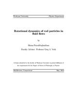 Rotational Dynamics of Rod Particles in Fluid Flows