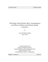 """That Bigger-Than-Me Kinda Thing"": Interdependence and Affective Wellness in the Berkeley Student Cooperative"