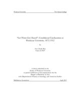 """Let Them Get Hazed"": Conditional Coeducation at Wesleyan University, 1872-1912"
