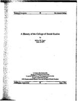 A History of the College of Social Studies