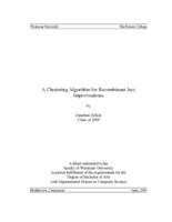A Clustering Algorithm for Recombinant Jazz Improvisations