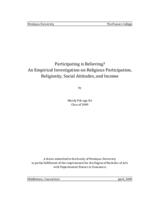Participating is Believing? An Empirical Investigation on Religious Participation, Religiosity, Social Attitudes, and Income