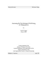 Assessing the Psychological Well-being of Chimpanzees