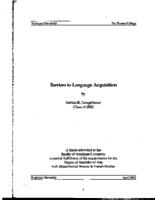Barriers to Language Acquisition