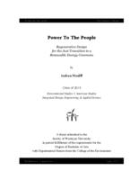 Power To The People: Regenerative Design for the Just Transition to a Renewable Energy Commons