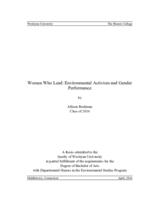 Women Who Lead: Environmental Activism and Gender Performance