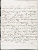 Joseph Cummings papers, Box 1, Folder 018: Library-related papers, 1867-1870