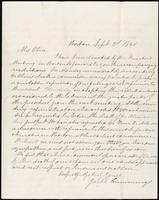 Joseph Cummings papers, Box 1, Folder 019: Correspondence, 1851-1867 and transcripts