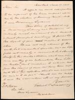 Box 01, Folder 004, Letter from Mr. Disoway, June 17, 1835, Page 1