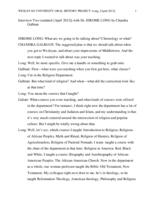 Oral history interview with Jerome Long [session 2], 2012 April