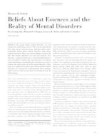 Beliefs About Essences and the Reality of Mental Disorders