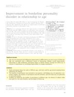 Improvement in borderline personality disorder in relationship to age