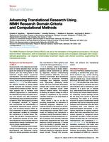 Advancing Translational Research Using NIMH Research Domain Criteria and Computational Methods