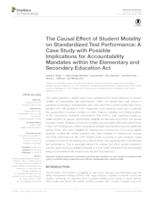 The Causal Effect of Student Mobility on Standardized Test Performance: A Case Study with Possible Implications for Accountability Mandates within the Elementary and Secondary Education Act