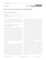 Fifty volumes of scholarship on eating disorders