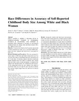 Race Differences in Accuracy of Self-Reported Childhood Body Size Among White and Black Women