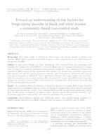 Toward an understanding of risk factors for binge-eating disorder in black and white women: a community-based case-control study