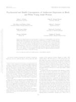 Psychosocial and health consequences of adolescent depression in Black and White young adult women.