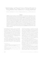 Epidemiology and Natural Course of Eating Disorders in Young Women From Adolescence to Young Adulthood