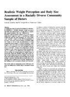 Realistic Weight Perception and Body Size Assessment in a Racially Diverse Community Sample of Dieters