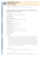 Cognitive Behavioral Treatment for Recurrent Binge Eating in Adolescent Girls: A Pilot Trial