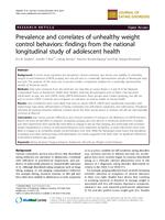 Prevalence and correlates of unhealthy weight control behaviors: findings from the national longitudinal study of adolescent health