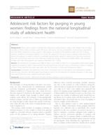 Adolescent risk factors for purging in young women: findings from the national longitudinal study of adolescent health
