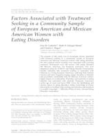 Factors associated with treatment seeking in a community sample of European American and Mexican American women with eating disorders