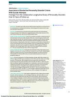 Association of Borderline Personality Disorder Criteria With Suicide Attempts