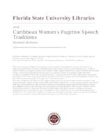 Caribbean Women's Fugitive Speech Traditions