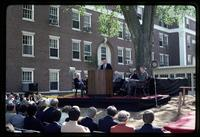 Ground breaking ceremony for the Olin renovation project