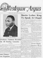 "020 - Argus, ""Martin Luther King to speak at Chapel,"" October 18, 1963"