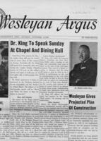 "023 - Argus, ""Dr. King to Speak Sunday at Chapel and Dining Hall,"" November 19, 1966"