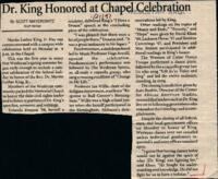 "030 - Argus, ""Dr. King Honored at Chapel Celebration,"" January 21, 1992"