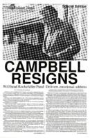 "009 - ""Campbell Resigns"" Wesleyan Argus Special Edition, October 29, 1987"