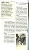 014 - Wesleyan News, 1973 and Wesleyan University Alumnus, Spring 1974 news clippings