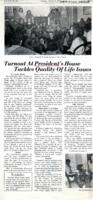 "016 - ""Turnout At President's House Tackles Quality of Life Issues,"" Wesleyan Argus, March 13, 1973"