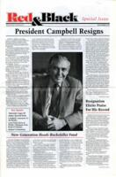 "021 - ""President Campbell Resigns,"" Red & Black Special Issue, November 1987"