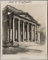 Campus Representations - Orr, Lewis Etchings (1928) - Photos