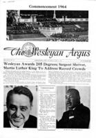 006 - Argus Commencement 1964 front page