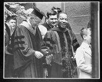 066 - Photo, Commencement 1964, Martin Luther King procession close up