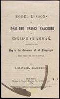 Model lessons in oral and object teaching of English grammar: