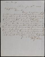 Perley Mason to John Johnston, January 14, 1852