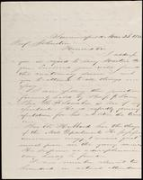 Chas R. Drau to John Johnston, March 22, 1852