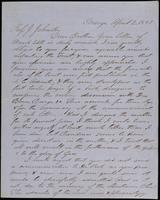 W. Mattison to John Johnston, April 2, 1852