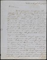 Mathew Hark to Faculty of Wesleyan University, July 30, 1852