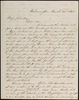 C.P. Wickersham to John Johnston, March 25, 1852